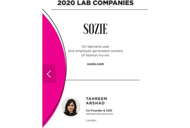 Sozie presented at 2020 Tech Runway Digital Demo Day